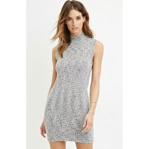 Forever 21 Navy/Cream Marled Knit Sweater Dress XL